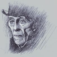Ballpoint sketch of Peter Cushing by Harnois75
