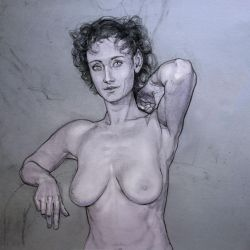 foreshortened elbow lady by mattdonnici