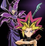 Yugi and the Dark Magician by LeafFox
