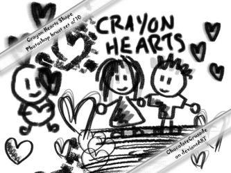 Crayon Hearts--PS Brush Set by Venry