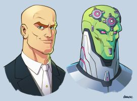 Lex Luthor and Brainiac by D-MAC