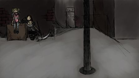 background: Alley Anon by nekozikasilver1