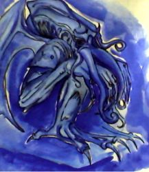 Cthulhu in Blue by 666irises