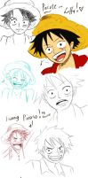 Sketchy Luffy by Lanne09