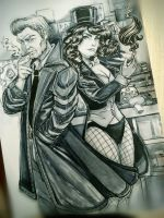 Commission John Constantine and Zatanna by HarU1989