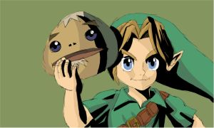 Speed Painting - Link with Goron Mask by XeteAnimaVlogs