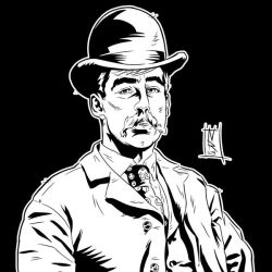 H.H. Holmes - Ink by The-Real-NComics