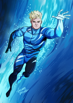 Cammo Aquaman Commission by LucianoVecchio