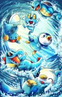 pokemon water starters with froakie
