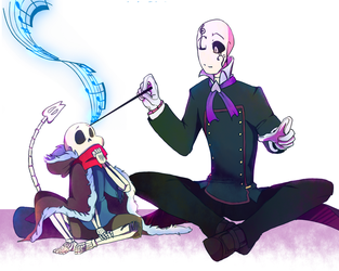Art trade: Maestro!Gaster (underbeats) by Bunnymuse