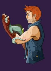 Charlie Weasley:Dragon Handler by darkwolfyone