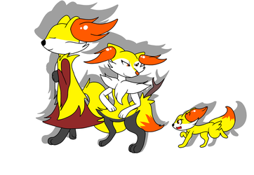 The Fennekin Family by charliethemew012