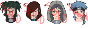 Naruto Adoptables - Female HS SOLD OUT by mistressmaxwell