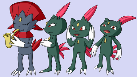 Weavile Number One but Sneasels too by Xander3000