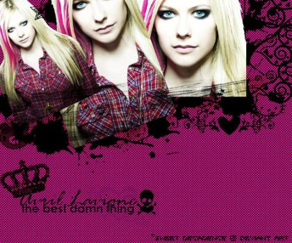Avril Lavigne Wallpaper. by xSweetxDecadencex