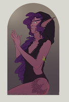 Night Elf - Commission by faithsalons