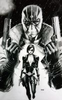 FANTOMEX and DOMINO by grandizer05