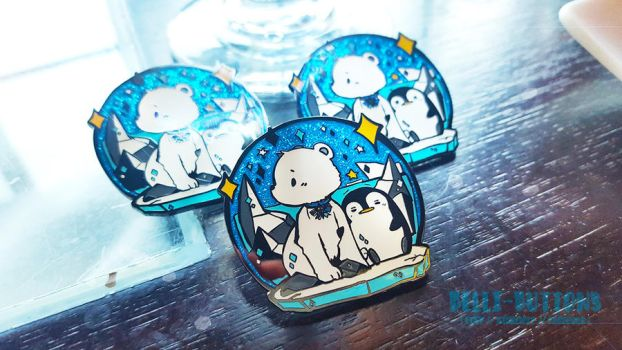 Arctic Friends Enamel Pin by jinyjin