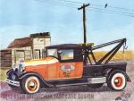 1929 Ford Tow Truck In The Praries by FastLaneIllustration