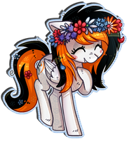 [Finished YCH] Rainy Sky has a cute flower crown by KYAokay