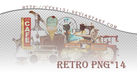 Retro png pack #02 by yynx151