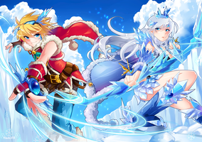 Santa Ezreal, The Ice Queen Ashe by HamiFR