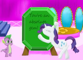 Rarity Valentine's Card by Wicked-Brew