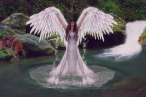 Angel of Water by BrankaArts