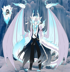 Katsuro The Ice Dragon (redesign) by The-Demonic-Cat-Girl