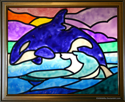 Orca Faux Stained Glass by KiRAWRa