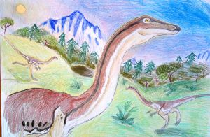The isle- Gallimimus. by Shantifiy