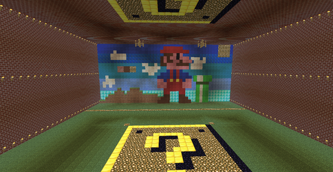 Minecraft Mario by supergrat