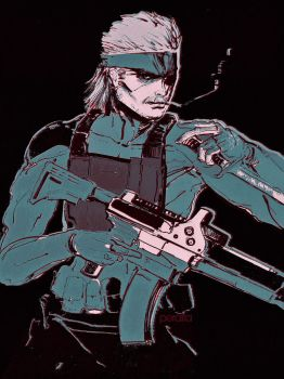 Solid Snake by ch-peralta