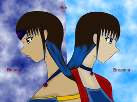 two versions of Bre colored by QueenBrittStalin