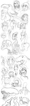 Semester 02 2013 Sketch Dump by chowgood