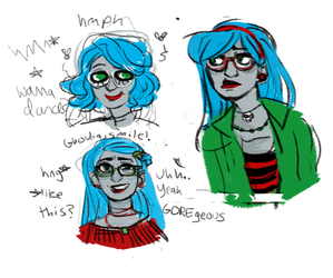 ghoulia doodles by Catbus