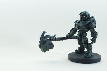 Master Chief Statuette by xar8