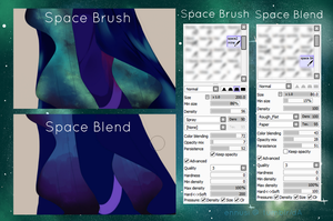 Space Brushes by ennusi