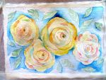 yellow roses by GeaAusten