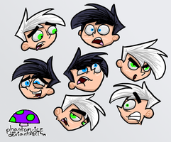 Faces of Danny by phantom-ice