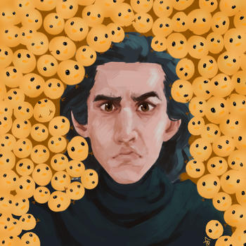 Kylo with 100+ chicks by icarus-descends
