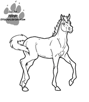 Foal Line art Colt Version by LittleKirara