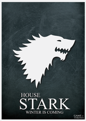 House Stark Minimalist Poster by cstm