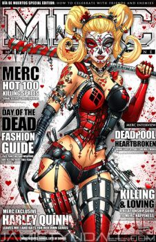 Day of the Dead Harley Quinn on Merc Magazine by jamietyndall