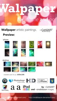 Wallpaper Mega Pack iPhone-PC by CaHilART
