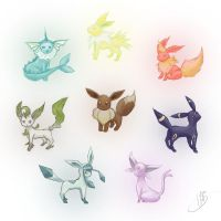 Eevee Evolutions~ ALL by NAD-LifeOfficial