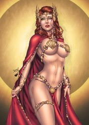 Jean Grey Atlantis by DLima - Colored by TracyWong by hydr1555