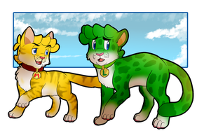 Mario and Luigi as Cats by BaconBloodFire