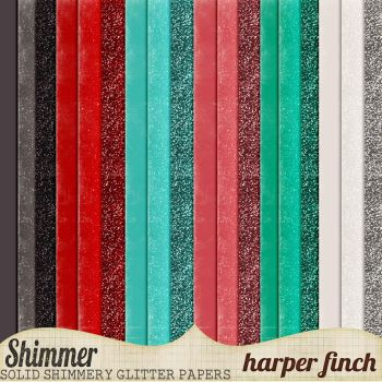 Shimmer, Solids, Glitters and Shimmery Papers by harperfinch