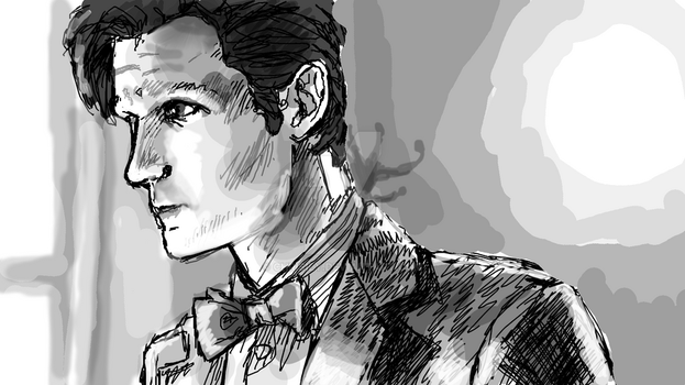 Chrisily 6 5 Eleventh Doctor Sketch By